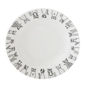 微光生活陶瓷8吋湯盤(貓咪)
