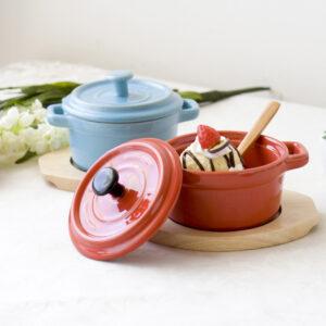 時尚Mini圓形烤皿附蓋