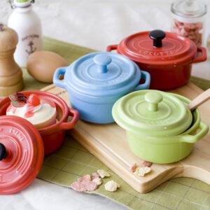 時尚MINI陶瓷橢圓烤皿附蓋