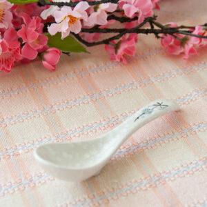 日式櫻花陶瓷湯匙