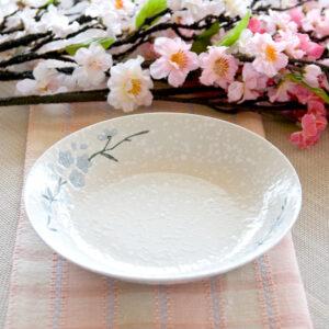 日式櫻花陶瓷8吋湯盤