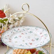 歐若拉骨瓷三層蛋糕盤架