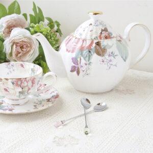 花漾薔薇骨瓷英式花茶壺1200ml