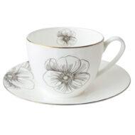 葛蘿雅骨瓷咖啡杯盤組