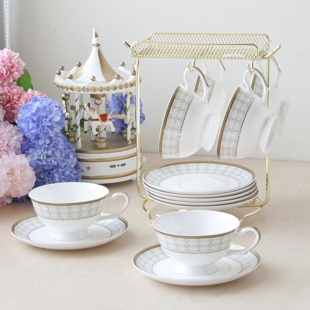 安帝斯骨瓷6入咖啡杯盤組