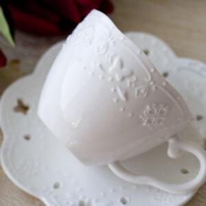 伊莎新骨瓷咖啡杯盤組