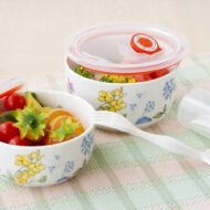 幸福花語陶瓷保鮮碗