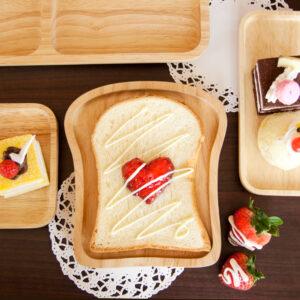 土司造型橡膠木餐盤