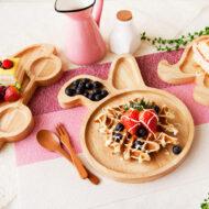 兔子造型橡膠木餐盤