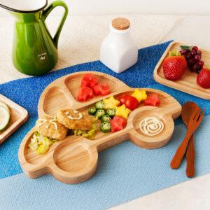 汽車造型橡膠木餐盤