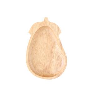 茄子造型橡膠木餐盤