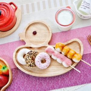 鴨子造型橡膠木餐盤