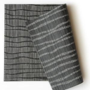 PVC編織餐墊30x45波紋黑