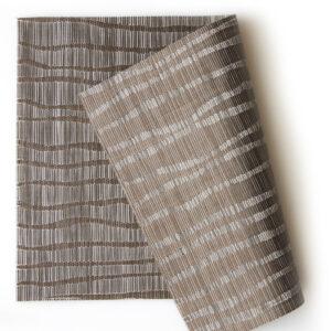 PVC編織餐墊30x45波紋咖