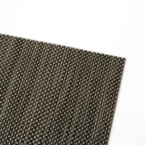 PVC編織餐墊30x45簡約黑咖