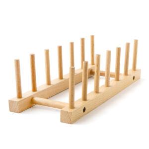 木質六格盤架